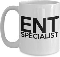 ENT Specialist Ears Nose Troat Medicine Skilled Printed Name Tag Coffee Mug Tea Cup Gift Ideas for your Favorite 29/15 ENT joed