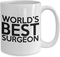World's Best Surgeon Surgery Specialty Medical Doctor Profession Coffee Mug Tea Cup Gift Ideas for Doctors 29/3 joed