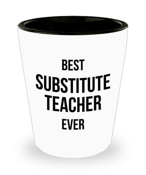 Substitute Teacher Gift, Second Teacher Gift, Sub Teacher Co Worker Gift Shot Glass 4/19f J