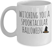 Witching you a Spooktacular Halloween Witch Wizard Costume Candy House Coffee Mug Gift Souvenir Giveaways Ideas Tea Cup 18/11 J