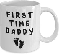 First Time Daddy Fatherhood New Parent Fathers Day Daddy Papa Unique Gift Ideas Coffee Tea Cup Mug Hot Drink 14/4 J