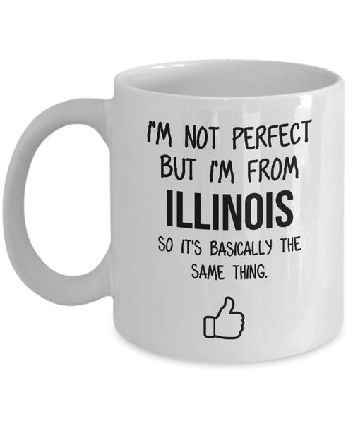 Illinois Mug Dad Gift Funny State Mug Gift For Friends Mom Gift City Hometown Mug Work Pals Mug Bff Gift -11oz