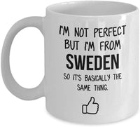 Sweden Mug Country Hometown Gift For Friends Dad Home Country Mug Wife Gift Husband Coffee Mug -11oz