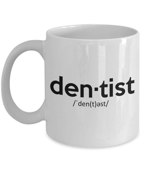 Dentists Teeth Dental Surgeon Dentistry Medicine Printed Name Tag Coffee Mug Tea Cup Gift Ideas for your Favorite Dentists 29/14 joed