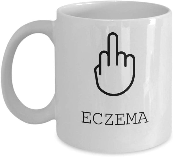 Eczema Mug, Survivor Gift, Gift For Her, Patient Gift, Gift For Him, Illness Mug, Gift For Survivor -15oz