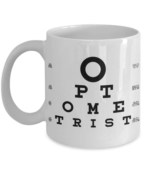 Optometrists Name Tag of Doctor Ophthalmologists Profession Printed Coffee Mug Tea Cup Gift Ideas for Eye Care Professional 29/6 joed