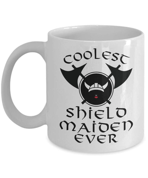 Coolest Shield maiden Ever Wife Girlfriend Valentines Gift Viking Coffee Mug J16
