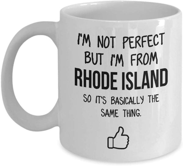 Rhode Island Mug Dad Gift Funny State Mug Gift For Friends Mom Gift City Hometown Mug Work Pals Mug Bff Gift -15oz