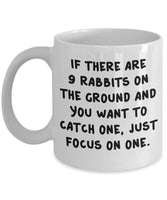 Catching Rabbit Capture Bunny Grab Animal Printed Coffee Mug Teaware Ceramic Dishwasher Safe 21/18 J
