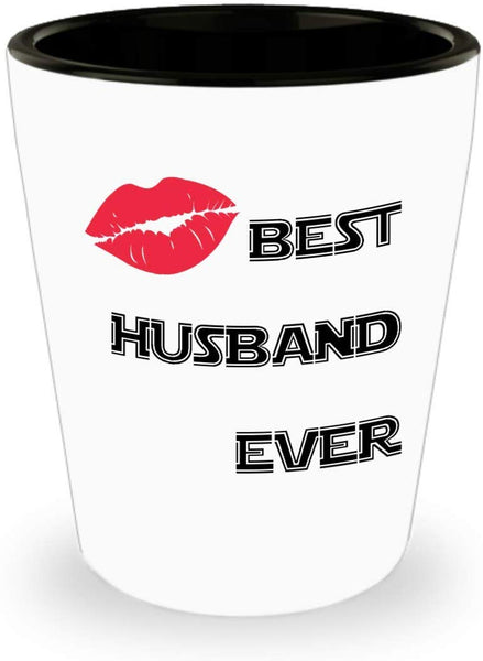 Best Husband Ever Valentines Gift for Husband Gag Spouse Wife Gift Shot Glass M12