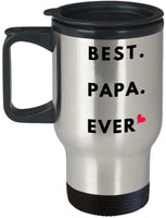 Best Papa Ever Travel Mug Father's Day Gift for New Dad M24