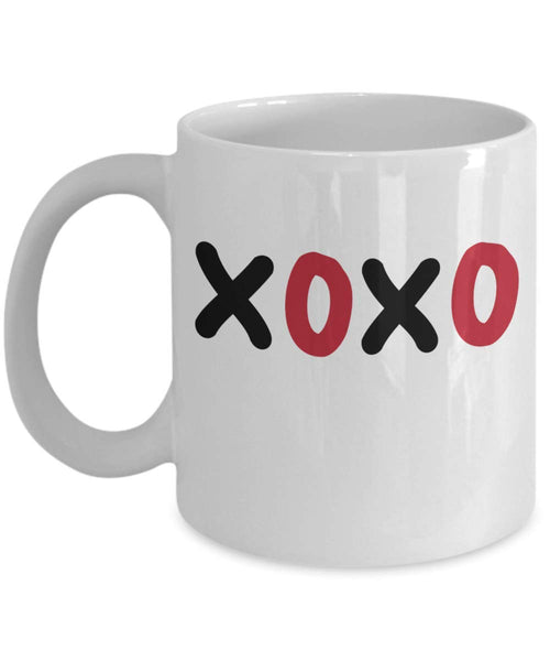 XOXO Hugs and Kisses Valentines Coffee Mug Family Friends Valentines Gift for Husband Wife Couple Gift Mug V10 J