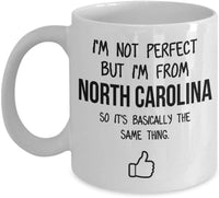 North Carolina Mug Dad Gift Funny State Mug Gift For Friends Mom Gift City Hometown Mug Work Pals Mug Bff Gift -11oz