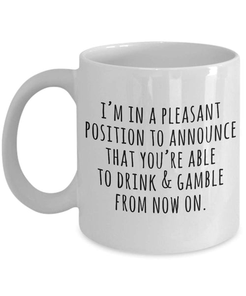 Announcing Allowing to Drink Gamble Adulthood Maturity Gift Ideas Present Coffee Mug Teaware for Son 23/7