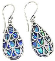 Tear Drop Paua Sterling Silver 925 Earrring