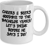 Bachelor Years Goodbye Drinks Special Celebration Engagement Wedding Party Tradition Custom Souvenir Gift Ideas Coffee Cafe Mug Tea Cup 15/2 J