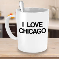 I love Chicago Memorable Place United States Printed Coffee Mug Gift Ideas Giveaways Souvenir Cafe Cup 25/5