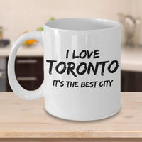 Memorable City Birthplace I Love Toronto Largests City Printed Memorable Place Gift Ideas Coffee Mug Cafe Cup 25/7