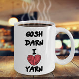 Gosh Darn I Yarn Expression Saying Printed Coffee Mug Teaware Tea Cup Cafe Drinking Caffeine Gift Ideas 16/22
