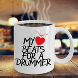 My Love Beats for a Drummer Boyfriend Lover Couple Drums Musical Instruments Coffee Mug Gift Ideas Tea Cup Teaware Drinkware Cafe 30/23 joed