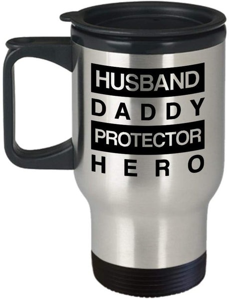 Husband Daddy Protector Hero Travel Mug Christmas Gift Ideas For Him 2/13 J