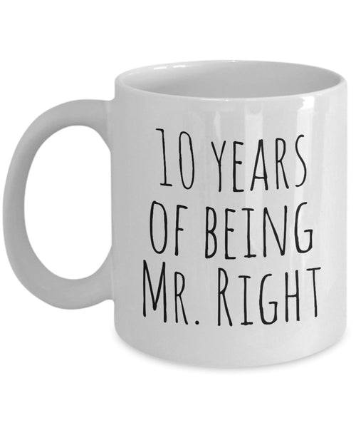 10 Years Marriage Long Term Couple Wife Husband Lover Novelty Coffee Mug Gift Ideas Birthday Souvenir Printed Couple Coffee Cup Mug Tea Cup 14/14a J