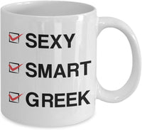 Sexy Smart Greek Coffee Mug 4/25 J