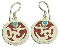 Om Omkara Coral Earrings