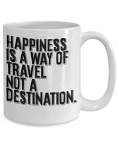 Lifetime Joyful Happiness Journey Destination Quotes Printed Coffee Mug Tea Cup Cafe Drinks Gift Souvenir Ideas for Travelers 26/2 Joed