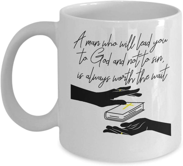 Husband Spouse Faith God Center Bible Marriage Gift Ideas Souvenir Printed Coffee Cup Mug Tea Cup 14/16 J