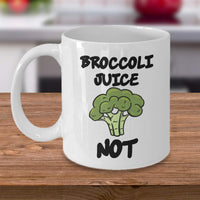 Broccoli Juice Not Nutritional Vegetable Green Cabbage Family Flowering Printed Coffee Mug Gift Ideas Tea Cup 16/34