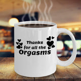 Thanks for all the Orgasms Inappropriate Coffee Mug Tea Cup Brewed Cafe Caffeine Gift Ideas 9/25 J
