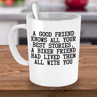 Biker Friendship Comparison Friends BFF Stories Events Coffee Mug Gift Ideas for Friends Bikers 26/18 Joed