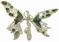 Fairy Angel Abalone Paua Shell Sterling Silver 925 Pin Pendant