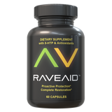 Three Bottles of RaveAid Rave Vitamin Supplements