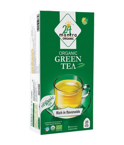 24 Mantra Green Tea Bags 25 - Pack of 2