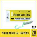 Sirona FDA Approved Premium Digital Tampon (Heavy Flow) - 20 Tampon