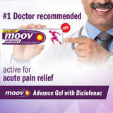 Moov Advance Fast Pain Relief Diclofenac Gel 30g (33% free) - Pack of 2