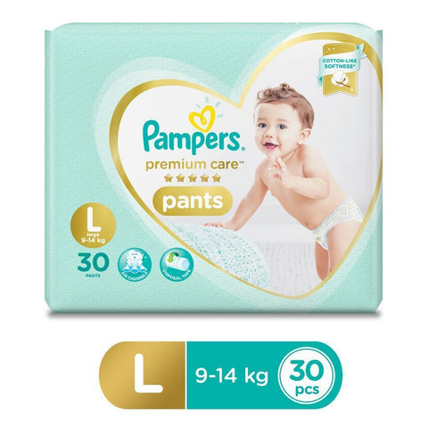 Pampers Premium Care Pants Diapers - Large Size 30 Pcs