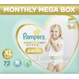 Pampers Premium Care Pants - Extra Large Size 72 Pcs