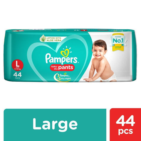 Pampers New Diapers Pants - Large Size 44 Pcs