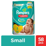 Pampers New Diapers Pants - Small Size 58 Pcs