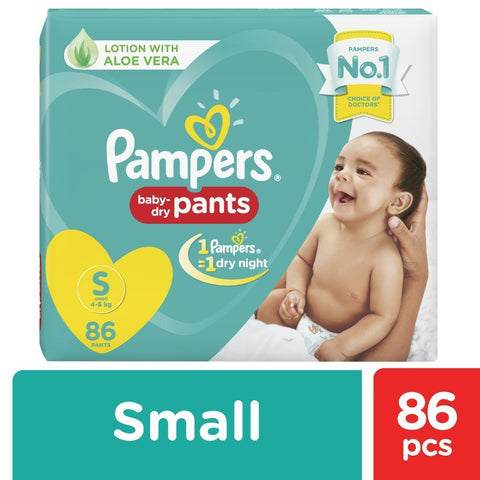 Pampers New Diapers Pants - Small Size 86 Pcs