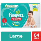 Pampers New Diapers Pants - Large Size 64 Pcs