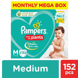 Pampers New Diapers Pants Monthly Box - Medium Size 152 Pcs