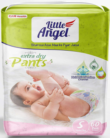Little Angel Baby Pull Ups - Small (60 Pieces