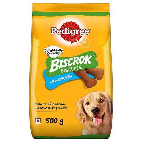 Pedigree Biscrok with Chicken 500gm - Pack of 2