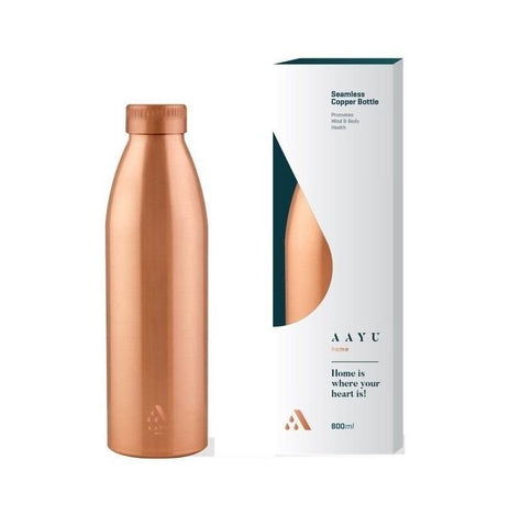 Aayu Home Seamless Copper Bottle 800 Ml