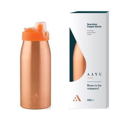 Aayu Junior Seamless Copper Bottle 500 Ml