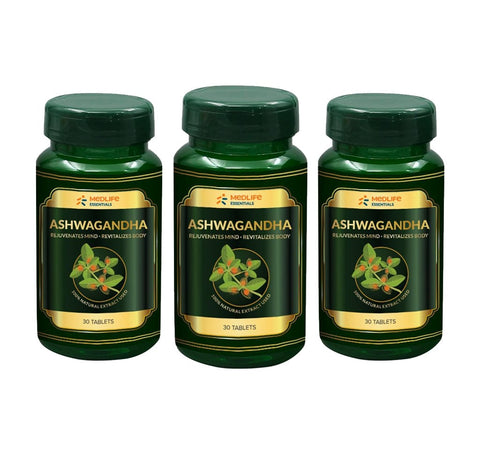 Medlife Essentials Ashwagandha 90 Tablet - 3's Pack